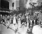 Floral display, wedding figures, 1914 (Bass #37020)