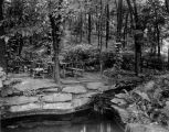 Estate of Nicholas H. Noyes, picnic area and pond, 1935 (Bass #231960-F)