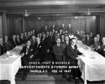 Huber, Hunt & Nichols, Superintendents & Foreman Banquet, 14 February 1947 (no Bass #)