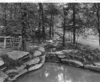 Estate of Nicholas H. Noyes, picnic table beside stream, 1929 (Bass #212401-F)