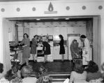 Indiana Bell cooking class, women on stage, 1947 (Bass # 269166)