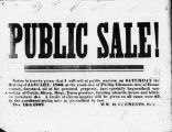 Announcement of estate sale, Phillip Clements of Boone County, document dated 1862 (Bass #1655)