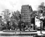 University Park, DePew Fountain, Chamber of Commerce Building, 1932 (Bass #224285-F)