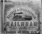Madison and Indianapolis Railroad broadside, document dated 1852 (Bass #225553)