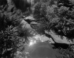 Estate of Nicholas H. Noyes, streambed with reflection on water, circa 1931 (no Bass #)