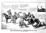 Political cartoon, Presidential Sweepstakes of 1844 (no Bass #)