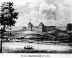 Vincennes, Fort Harrison, drawing (Bass #293505F-1)