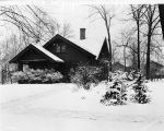 William H. Bass House, snow scene, 1931 (Bass #219828-F)