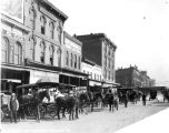 Delaware Street, looking north, wholesale grocery stores, 1912 (Bass #30315)