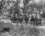 Ladywood High School, girls riding horses, 1927 (Bass #202545)