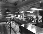 Guaranty Building Cafeteria, interior, cafeteria workers, 1923 (Bass #82609-F)