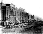 Washington Street at time of Epizootic outbreak, 1870s (Bass #91931-F)