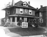 2 story house, Motor Corps of Indiana sign (no Bass #)