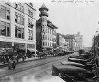 Illinois Street, looking south from Kentucky Avenue, 1920 (Bass #70938-F)