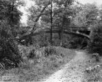 Ladywood High School grounds, bridge, 1925 (Bass #93804-F)