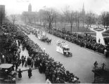 Liberty Loan Parade, Red Cross float, Meridian Street, 1918 (Bass #62951-F)