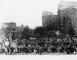 Welcome Home Day, Indiana State Capital building, 1919 (Bass #66374-F)