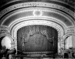 Grand Opera House, stage and curtain, 1907 (Bass #A-593)