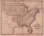 Eagle Map of the United States Engraved for Rudiments of National Knowledge