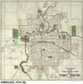 J.M.E. Riedel's New Street Number Guide Map of Fort Wayne