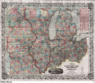 Guide through Ohio, Michigan, Indiana, Illinois, Missouri, Wisconsin & Iowa. Showing the township Lines