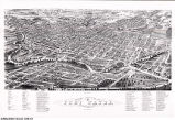 Panoramic View of the City of Fort Wayne, Allen County, Indiana 1880, Looking South East