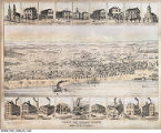 View of Tell City, Perry County, Indiana. Praemie zum Tell City Anzeiger. Reprinted 1983 from an original