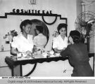 Women at the Cosmetics Bar in the Madam C.J. Walker Beauty Shoppe
