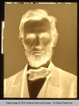Glass-Plate Negative of Abraham Lincoln