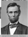 Positive of Glass-Plate Negative of Lincoln