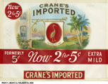 House of Crane Embossed Cigar Box Label
