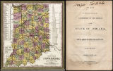 1850 Map of the State (l), Act for Calling Convention (r)