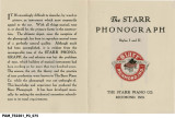 Starr Phonographs Styles I and II [brochure]